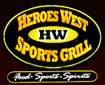 Logo for Heroes West Sports Grill