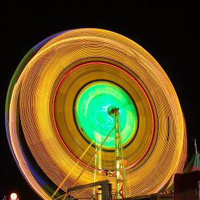 Fair Rides by Tony Moore - Abstract Light Painting ( ride, colorful, colors, fun, fair, catawba county, rides, nc, fairground, fall, night, slow shutter, special effects,  )