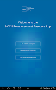 NCCN Reimbursement Resource- screenshot thumbnail
