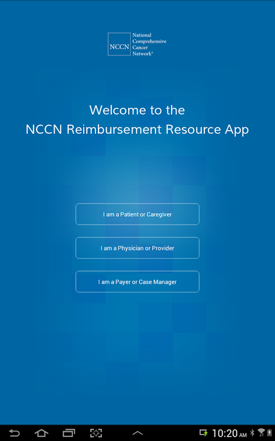 NCCN Reimbursement Resource - screenshot