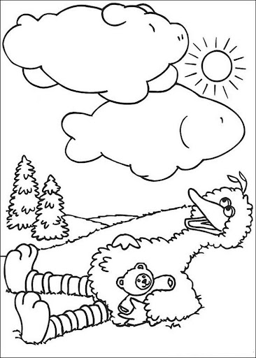 Coloring Book Sesame