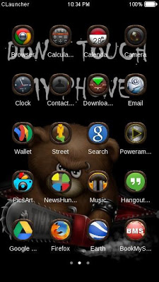 Dont Touch My Phone Theme - screenshot