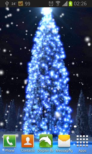 クリスマス雪 3D