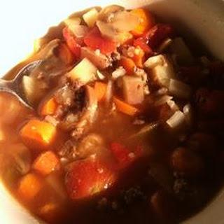 Hamburger Rice Soup.