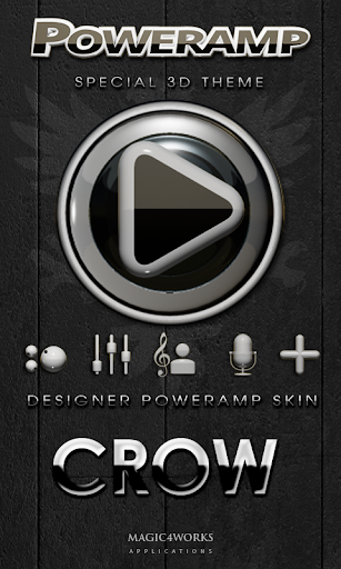 Poweramp skin Crow