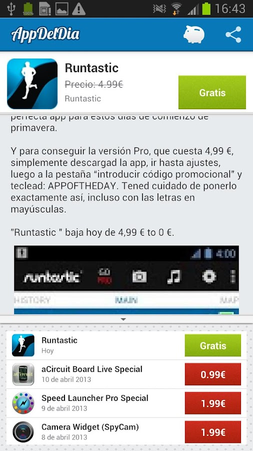 App del Dia - 100% Gratis - screenshot
