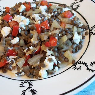 Warm Lentil And Goat Cheese Salad