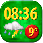 Funny Clock Weather Widget