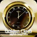 MEN'SDESIGNゴールドアナログ時計ウィジェット