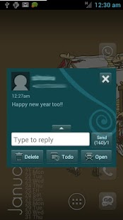 Go SMS Pro Theme - Spiral - screenshot thumbnail