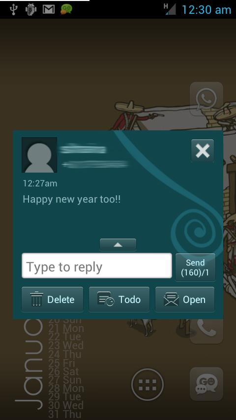 Go SMS Pro Theme - Spiral - screenshot