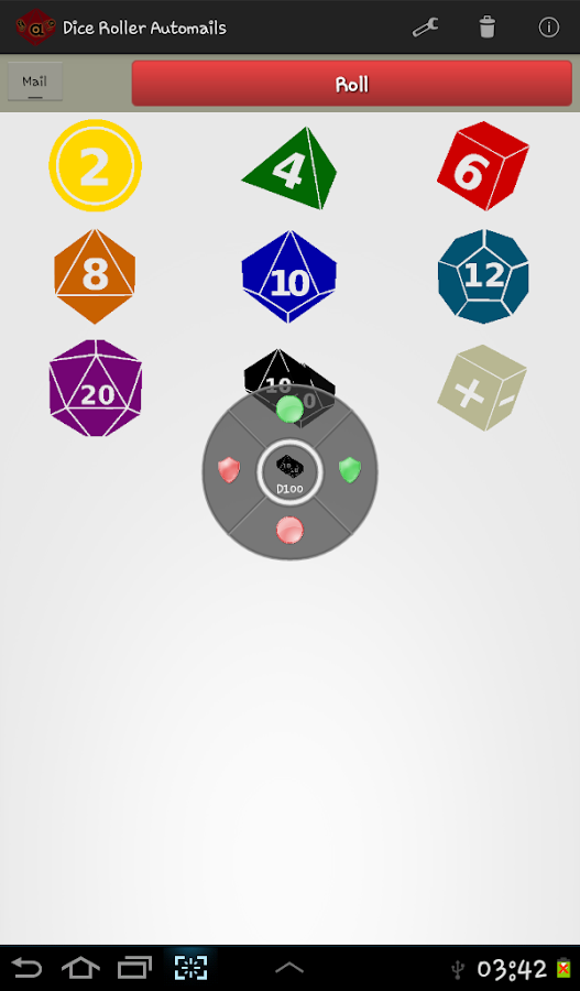 Dice Roller RPG Automails - screenshot
