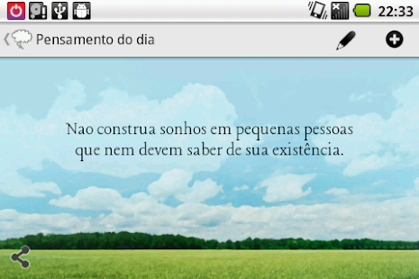 Pensamento do dia - screenshot thumbnail