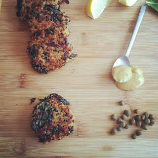 Kale and Quinoa Cakes.
