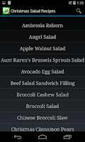 Screenshot of Salad Recipes App
