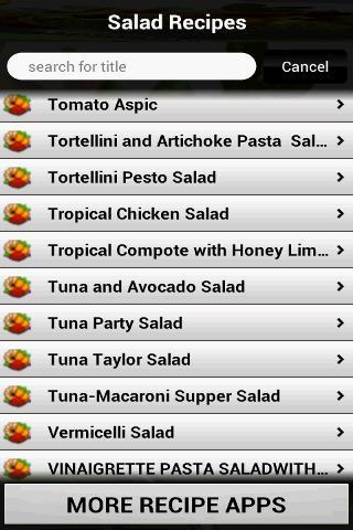 250 Salad Recipes- screenshot