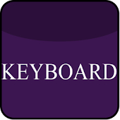Violet Glass Keyboard Skin