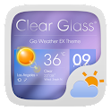 Clear Glass Weather Widget