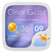 ClearGlass Theme GO Weather EX