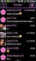 Screenshot of Pink Neon Heart Theme 4 GO SMS