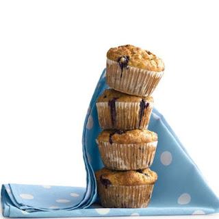 Banana-Blueberry Cornmeal Muffins.