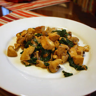 Three-Alarm Tofu with Oyster Mushrooms and Spinach