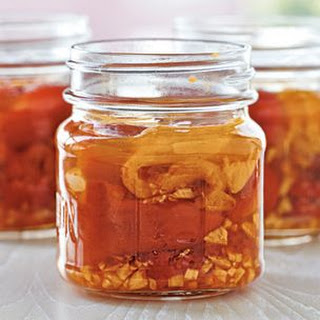 Pickled Roasted Red Peppers with Garlic
