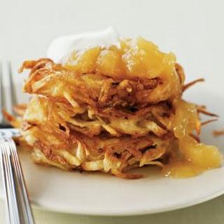 Potato Pancakes with Sour Cream and Applesauce Recipe