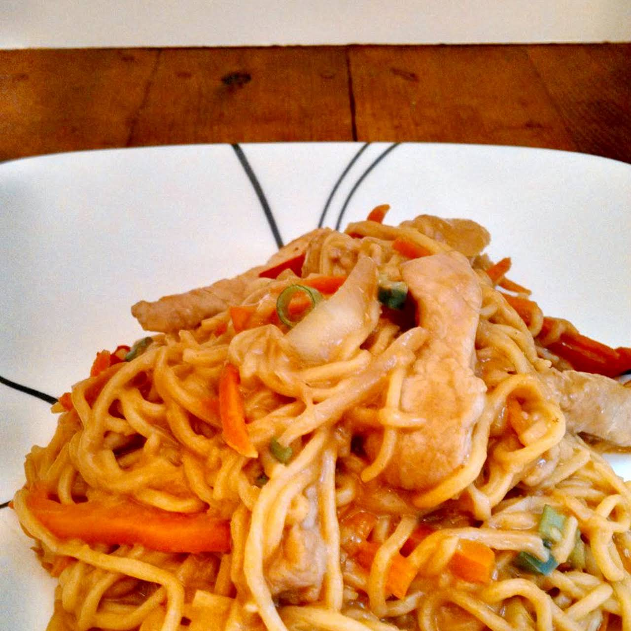 Asian Noodles  in imitation of Peanut Dressing