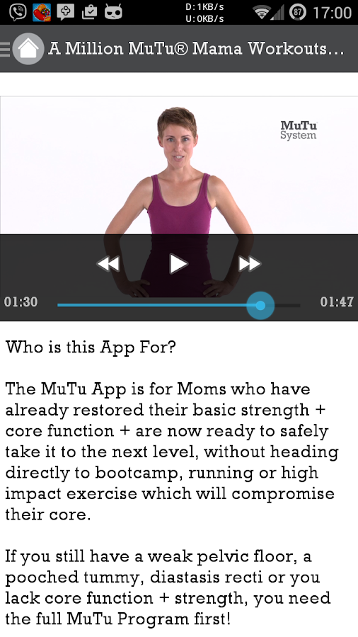 A Million MuTu Mama Workouts- screenshot