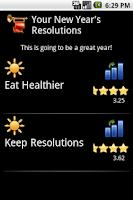 Screenshot of Free New Year's Resolutions