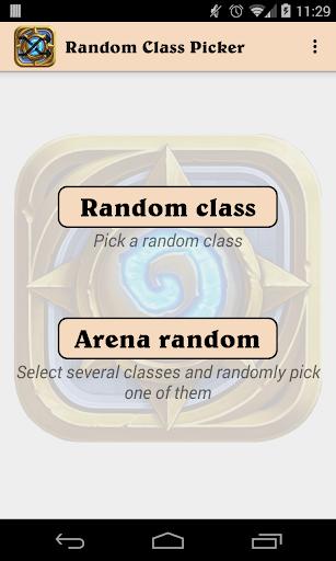 Hearthstone Random Class
