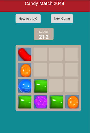 2048 Candy match Puzzle Game