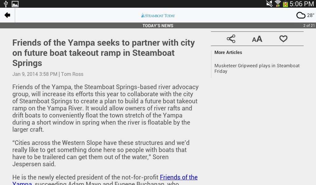 Steamboat Today - screenshot