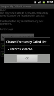 Frequently Called Remover - screenshot thumbnail