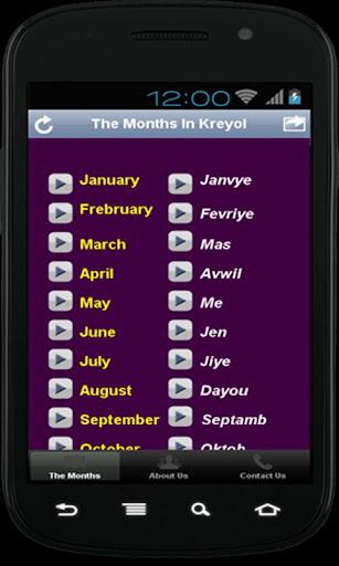 App Kreyòl: The Months