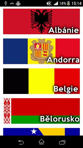 Státy a hl.města Evropa