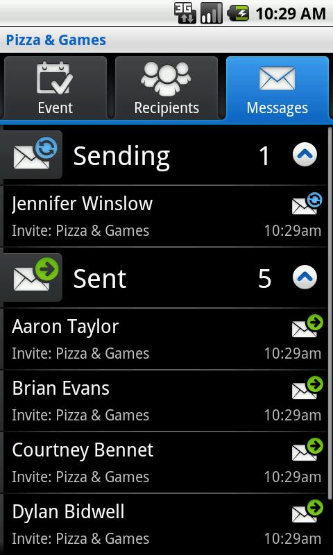 SMS Group Invite - screenshot