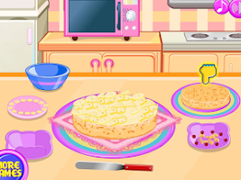 Screenshot of Cooking banana split cake
