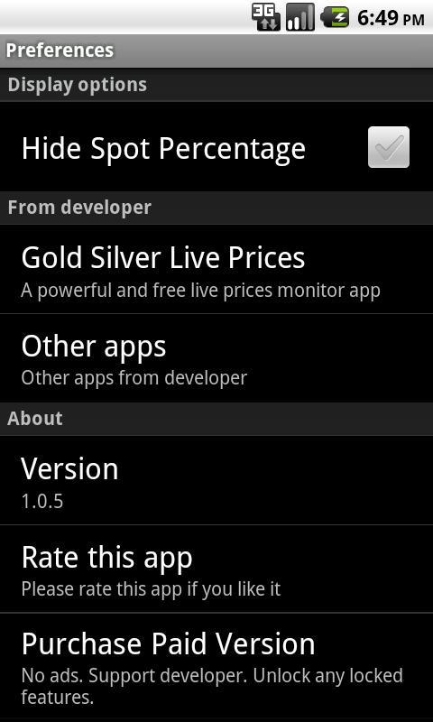 Gold Price Calculator Free Screenshot 5