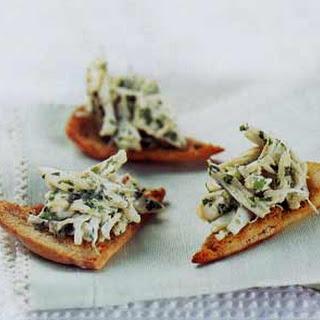 Crab Canapés with Cumin.