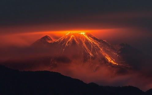 火山動態壁紙