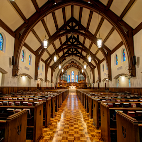 Sanctuary by Dave Clark - Buildings & Architecture Places of Worship ( interior, church, sanctuary, pews, worship,  )