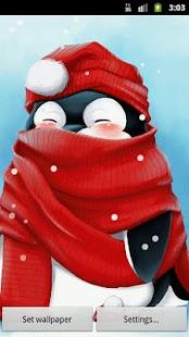 冬季企鵝動態壁紙