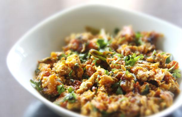 Anda Bhurji (Spicy Indian Scrambled Eggs) Recipe