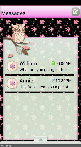 FrenchOwls GO SMS THEME