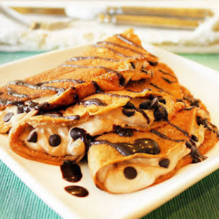 Hazelnut Coffee Crepes (with Creamy Coffee Filling).