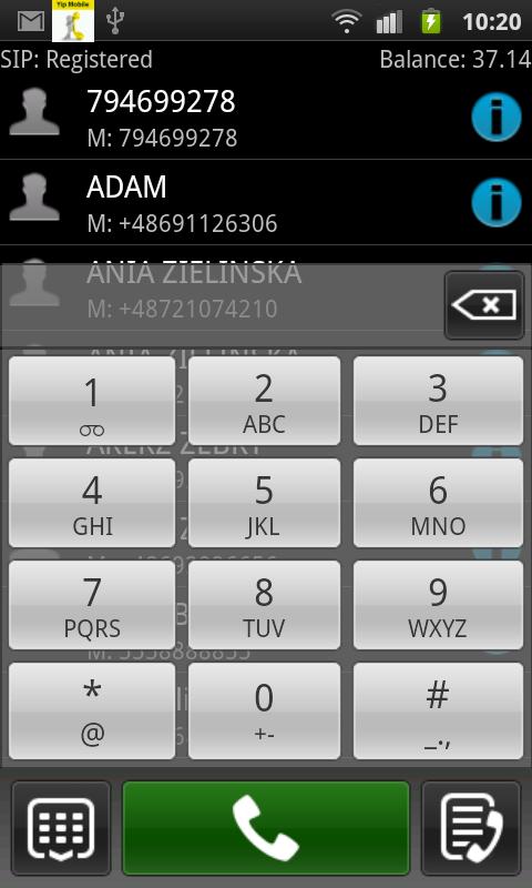 Yip Mobile tun - screenshot