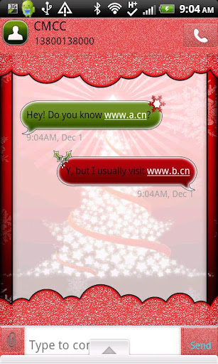GO SMS THEME RedChristmas