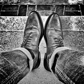 My goodie 2 shoes by Apollo Reyes - Instagram & Mobile iPhone ( shoes, laces, brogues, jeans, leather,  )